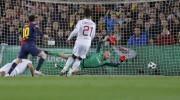 Il secondo gol di Messi, Abbiati non può opporsi al tiro della pulce argentina