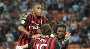 Esultanza Milan-Cagliari (spaziomilan)