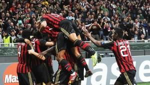 Esultanza Milan-Barcellona (Spaziomilan)