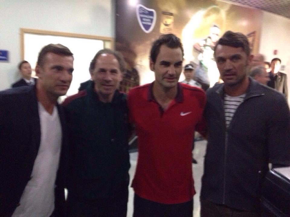 ¿Cuánto mide Paolo Maldini? - Altura - Real height Maldini-baresi-shevchenko-federer-galli