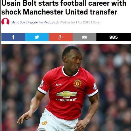 Usain Bolt al Manchester United