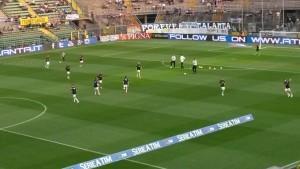 Riscaldamento Atalanta-Milan