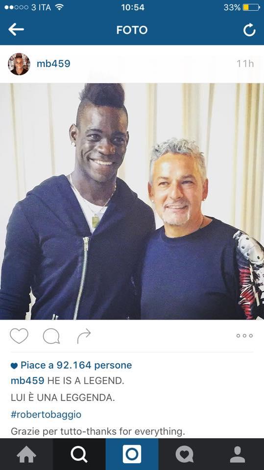 Balotelli e Baggio