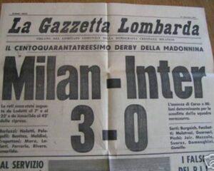 milan inter 3-0 gazzetta lombarda