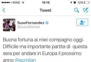 Suso tweet