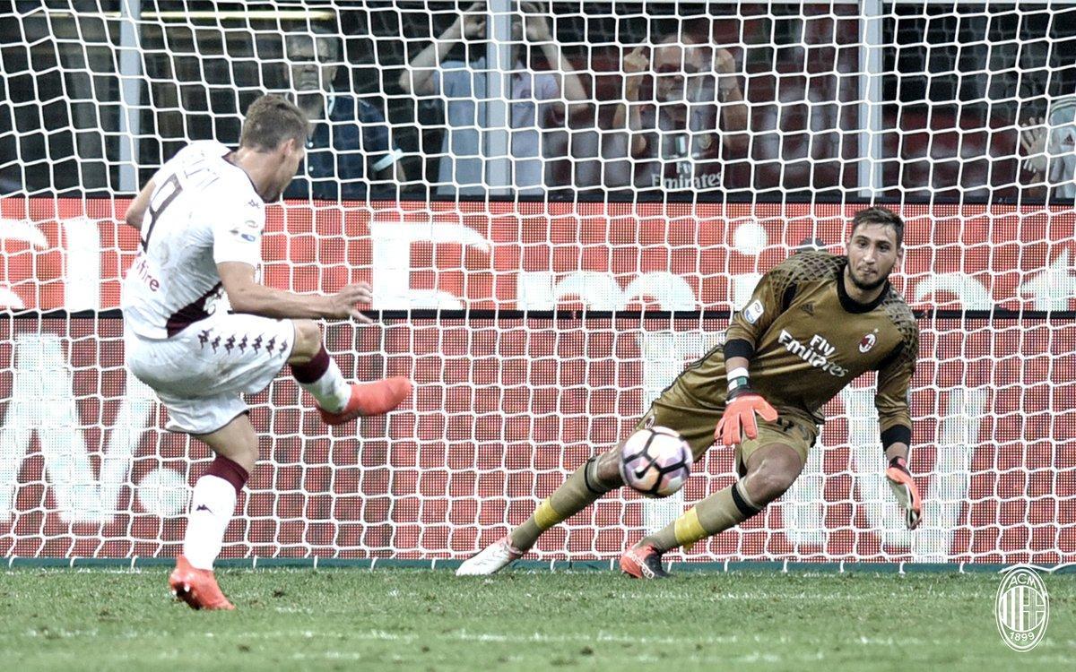 Rigore Belotti Donnarumma: Milan Torino, Serie A