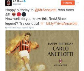Ancelotti Twitter