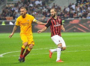 Milan-Roma, Higuain e De Rossi (SpazioMilan)