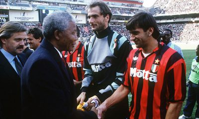 Il Milan incontra Nelson Mandela