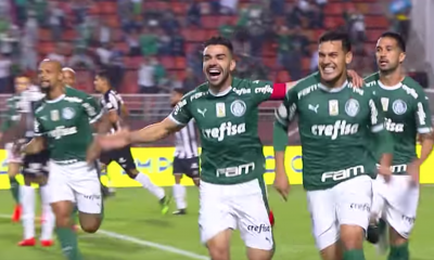 Gomez gol Palmeiras Santos