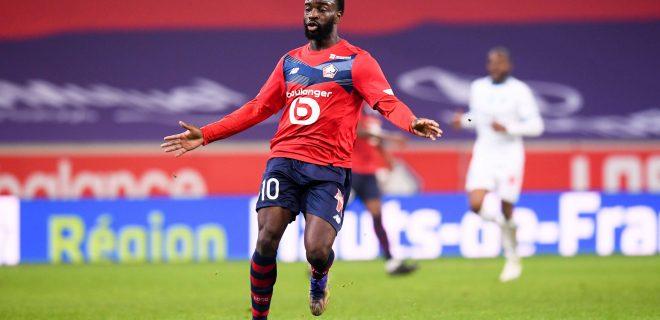 10 Jonathan IKONE losc FOOTBALL : Lille vs Marseille - Ligue 1 Uber Eats - 03/03/2021 FEP/Panoramic PUBLICATIONxNOTxINxFRAxITAxBEL