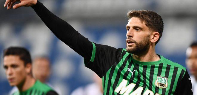 Mg Reggio Emilia 12/05/2021 - campionato di calcio serie A / Sassuolo-Juventus / foto Matteo Gribaudi/Image nella foto: Domenico Berardi PUBLICATIONxNOTxINxITA