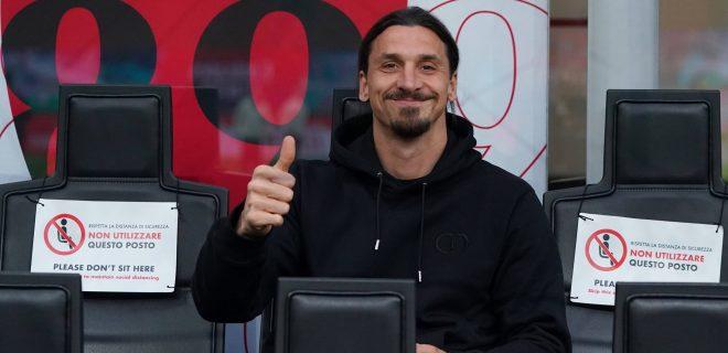Photo LaPresse - Spada May 16 , 2021 Milan  Italy  Soccer A.C. Milan- Season 2020-2021 - Serie A Milan vs Cagliari In the pic: Zlatan Ibrahimovic PUBLICATIONxNOTxINxITAxFRAxCHN Copyright: xSpadax
