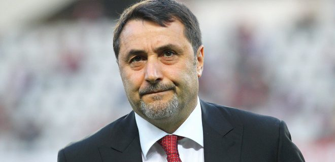 April 18, 2018 - Turin, Italy - Massimiliano Mirabelli, manager of AC Milan, during the Serie A football match between Torino FC and AC Milan at Olympic Grande Torino Stadium on April 18, 2018 in Turin, Italy. .Final result: 1-1 Torino FC v AC Milan - Serie A PUBLICATIONxINxGERxSUIxAUTxONLY - ZUMAn230 20180418_zaa_n230_972 Copyright: xMassimilianoxFerrarox