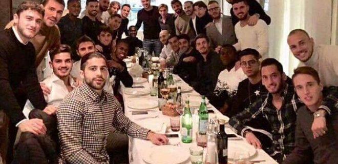 Cena squadra Milan