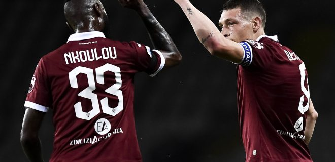 Torino 23/06/2020 - campionato di calcio serie A / Torino-Udinese / foto Image nella foto: esultanza gol Andrea Belotti PUBLICATIONxNOTxINxITA