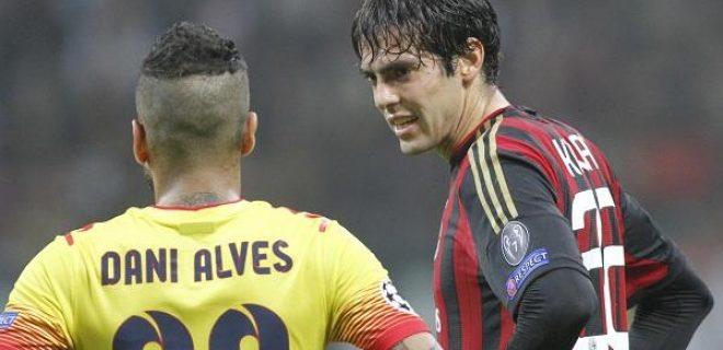 Kakà Dani Alves Milan-Barcellona (spaziomilan)