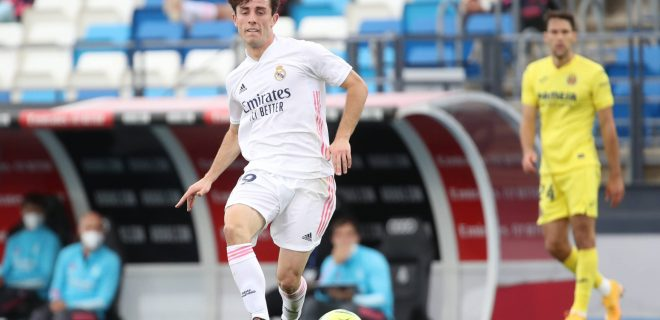 May 22, 2021, Madrid, Spain: Alvaro Odriozola of Real Madrid in action during the Spanish Liga Santander match between Real Madrid and Villarreal at at Estadio Alfredo Di Stefano in Madrid, Spain. Madrid Spain - ZUMAd159 20210522_zia_d159_054 Copyright: xIndirax