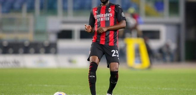 Serie A  SS Lazio vs AC Milan - 2021/04/26  ROME, ITALY, APR 26: Fikayo Tomori of AC Milan in action during the Italian Serie A football match between SS Lazio and AC Milan at Olympic Stadium in Rome, Italy on April 26, 2021. SS Lazio won the match 3-0. Rome Olympic Stadium Italy 6569_238646 Copyright: xGiampieroxSposito/PentaxPressx